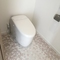 【つくば市】S様邸新築注文住宅 さくら柄のフロアタイルが印象的な2Fトイレ